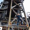 Bergwerk Turm mit SM Master Dominus.Berlin alias Master Andre in Leder Outfit bereit fuer Fetisch Inszenierung